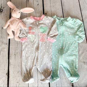 Bundle 2/$10🛍  Baby Footie Bodysuits